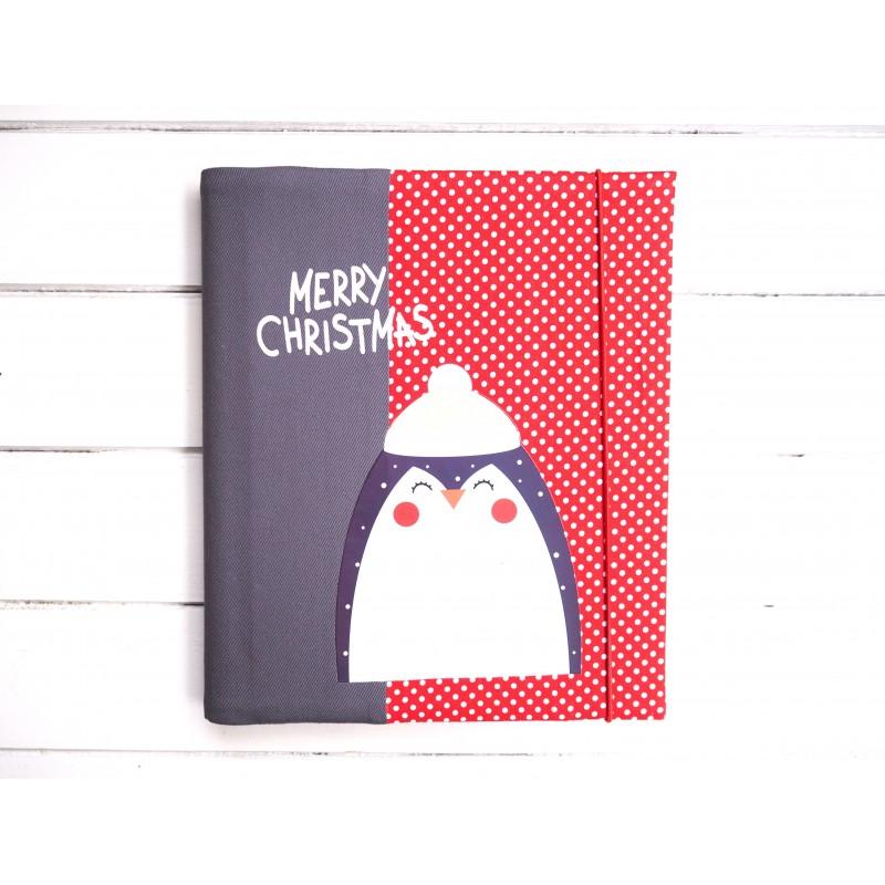 Vianočný fotoalbum merrych christmas s tučniakom