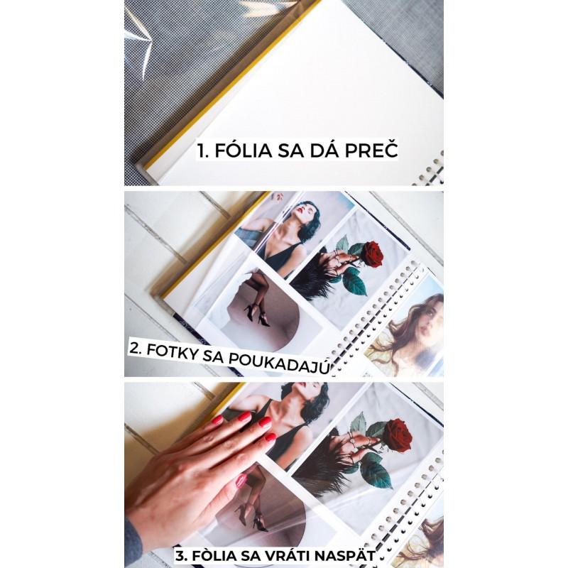 samolepiaci fotoalbum pridávanie fotografiíi