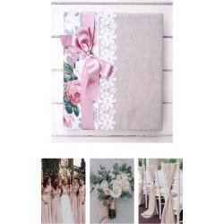svadobný ružový fotoalbum