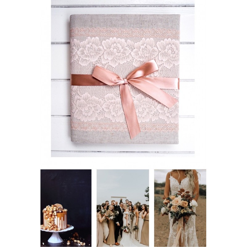 Samolepiaci svadobný karamelový fotoalbum