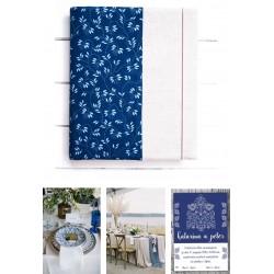 svadobný samolepiaci fotoalbum z modrotlače v jendoduchom štýle