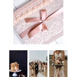 svadobný samolepiaci fotoalbum v karamelovej farbe