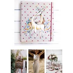 svadobný samolepiaci fotoalbum so srnkami