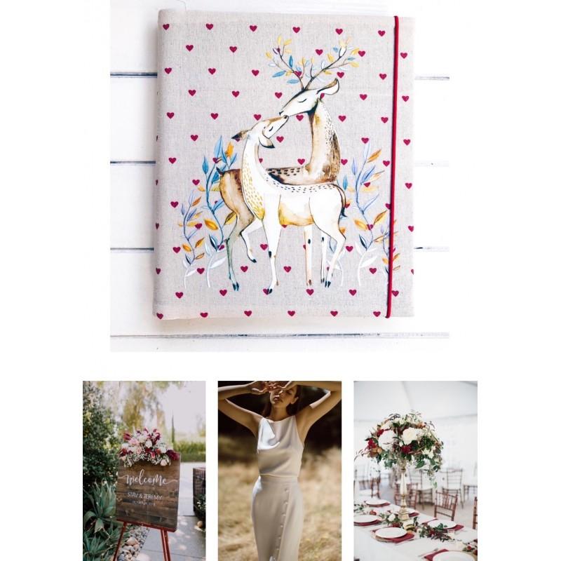 Samolepiaci svadobný fotoalbum so srnkami