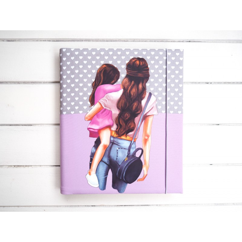 dievčenský detský fotoalbum mama s dcerou